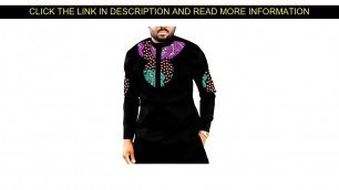 ☀️ Promo African print long shirts men's fashion patchwork slim fit dashiki clothes custom made Afr