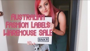 'Australian Fashion Labels BNKR Warehouse Sale Haul Try On'