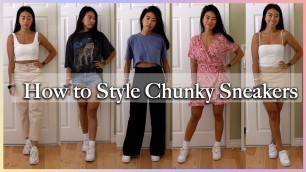 HOW TO STYLE CHUNKY SNEAKERS - Nike Air Force 1's, Koio, Adidas Yung 1
