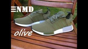 NEW Adidas NMD R1 Olive Green - Unboxing & On Feet HD
