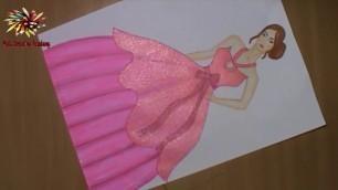 'how to draw a dress,how to draw fashion sketch,how to draw fashion illustration'