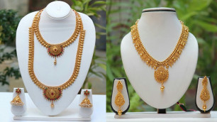 'Beautiful Gold Necklace Designs || Top Gold Jewellery Models Collection || The Fashion Zone'